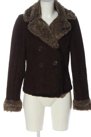 Orsay Kurtka ze sztucznym futrem brązowy W stylu casual