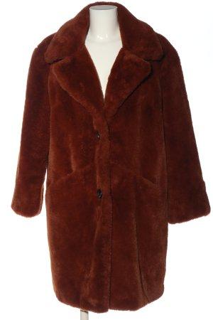 Orsay Manteau en fausse fourrure brun style décontracté