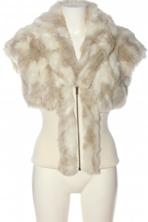 Orsay Fake Fur Vest natural white color gradient casual look