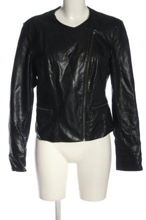 Orsay Kurtka z imitacji skóry czarny W stylu casual