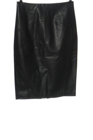 Orsay Spódnica z imitacji skóry czarny W stylu casual