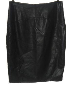 Orsay Spódnica z imitacji skóry czarny W stylu biznesowym
