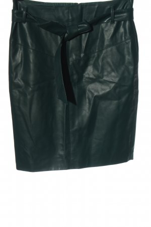 Orsay Faux Leather Skirt green business style