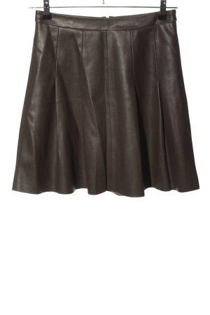 Orsay Jupe en cuir synthétique brun style décontracté