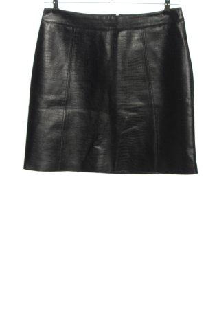 Orsay Spódnica z imitacji skóry czarny Zwierzęcy wzór W stylu biznesowym