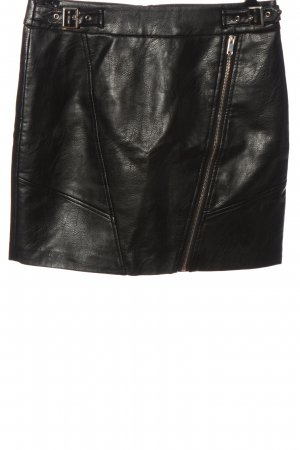 Orsay Faux Leather Skirt black wet-look