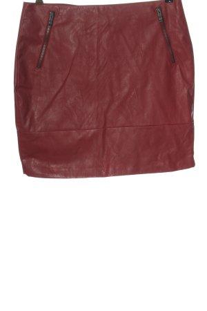 Orsay Spódnica z imitacji skóry czerwony W stylu casual