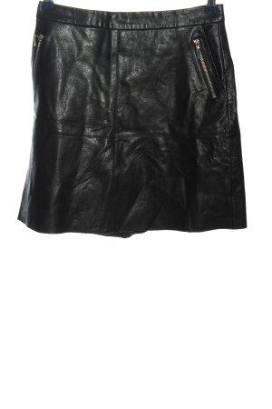 Orsay Spódnica z imitacji skóry czarny Z połyskiem