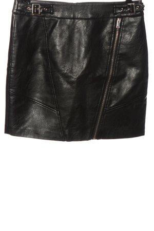 Orsay Kunstlederrock schwarz Glanz-Optik