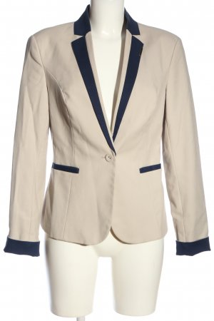 Orsay Kurz-Blazer creme-blau Business-Look