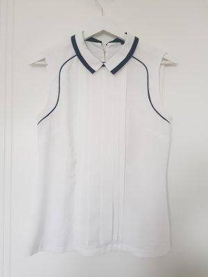 Orsay Mouwloze blouse wit-zwart