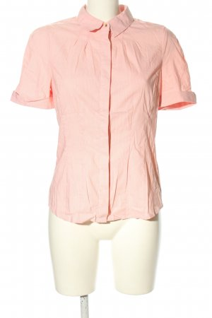 Orsay Kurzarm-Bluse pink-weiß Streifenmuster Business-Look