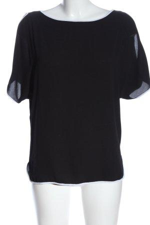 Orsay Kurzarm-Bluse schwarz Casual-Look