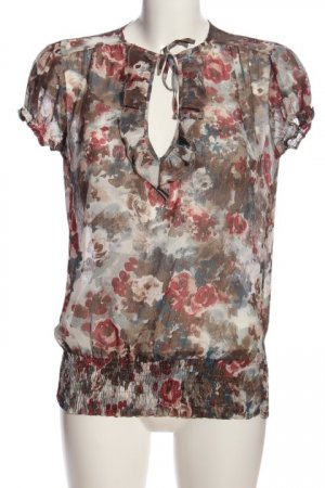 Orsay Kurzarm-Bluse Allover-Druck Casual-Look