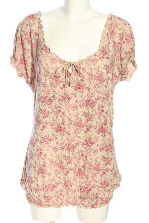 Orsay Kurzarm-Bluse creme-pink Allover-Druck Casual-Look