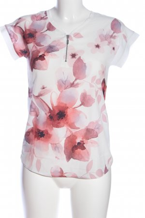 Orsay Short Sleeved Blouse white-pink flower pattern casual look
