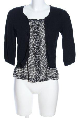 Orsay Kurzarm-Bluse schwarz-weiß Punktemuster Casual-Look
