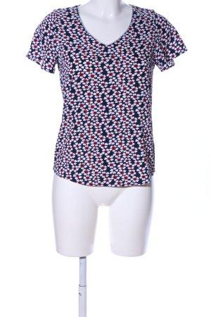 Orsay Kurzarm-Bluse Blumenmuster Casual-Look