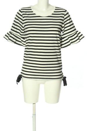 Orsay Kurzarm-Bluse schwarz-weiß Streifenmuster Casual-Look