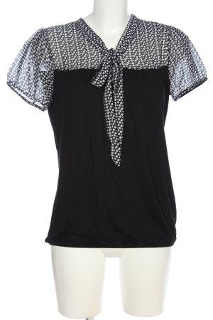 Orsay Kurzarm-Bluse schwarz-weiß Business-Look