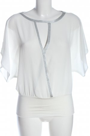 Orsay Short Sleeved Blouse white-silver-colored casual look