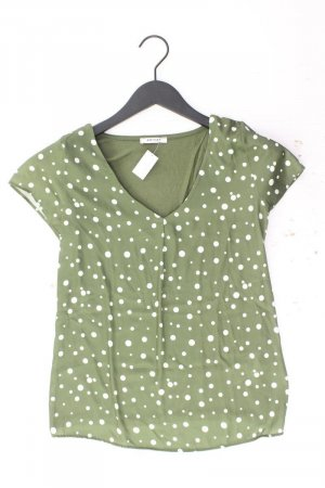 Orsay Kurzarmbluse Größe XS gepunktet grün aus Polyester