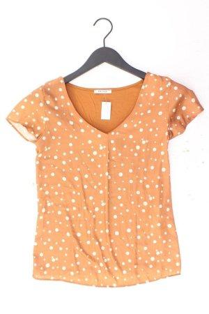 Orsay Kurzarmbluse Größe XS gepunktet orange aus Polyester