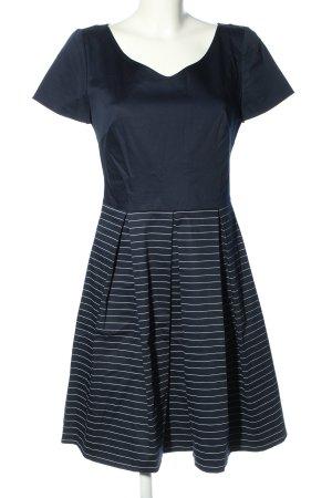 Orsay Kurzarmkleid blau Streifenmuster Business-Look