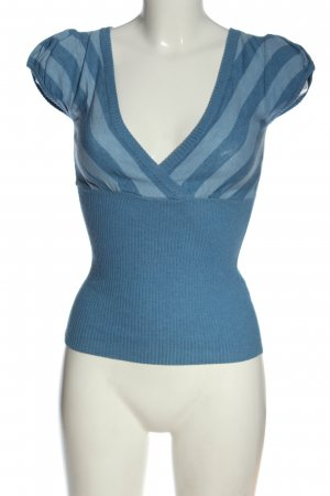 Orsay Kurzarmpullover blau Streifenmuster Casual-Look
