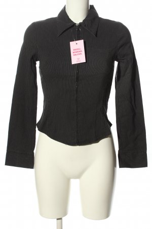 Orsay Kurzjacke schwarz Streifenmuster Casual-Look