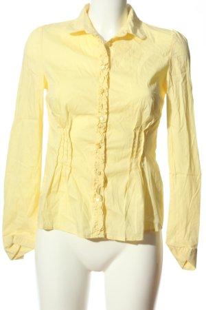Orsay Langarm-Bluse blassgelb Casual-Look