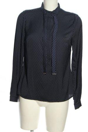 Orsay Langarm-Bluse schwarz-weiß Punktemuster Business-Look