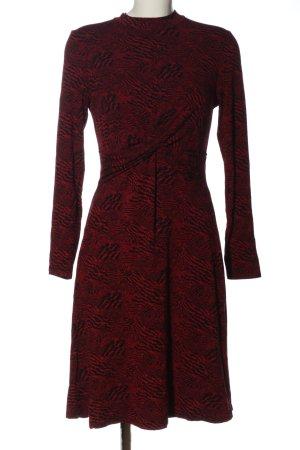 Orsay Langarmkleid rot-schwarz Allover-Druck Casual-Look