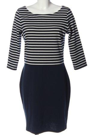 Orsay Langarmkleid weiß-blau Streifenmuster Business-Look