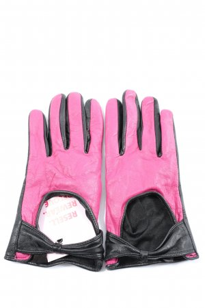 Orsay Leather Gloves pink-black casual look