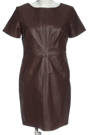 Orsay Robe en cuir brun style décontracté