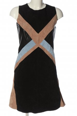 Orsay Lederkleid schwarz-braun Elegant