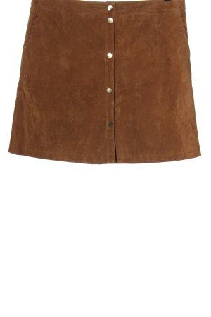 Orsay Jupe en cuir brun style décontracté