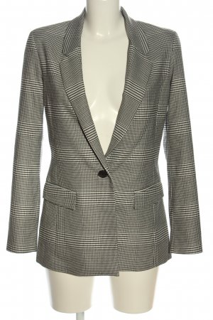 Orsay Long-Blazer schwarz-creme Karomuster Business-Look