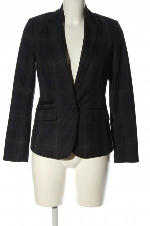 Orsay Long-Blazer schwarz-hellgrau Karomuster Business-Look