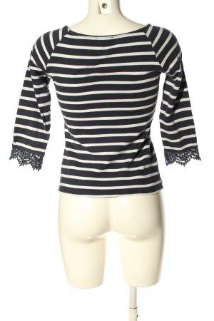 Orsay Longsleeve schwarz-weiß Streifenmuster Casual-Look