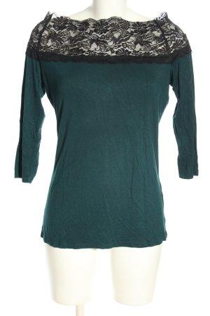 Orsay Longsleeve grün-schwarz Casual-Look