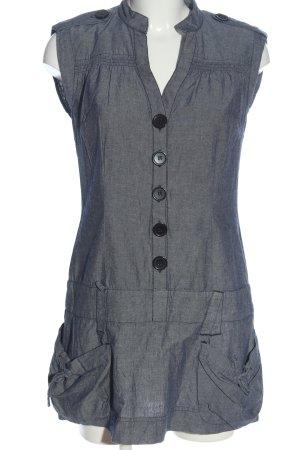Orsay Robe chemise gris clair-noir motif abstrait style décontracté