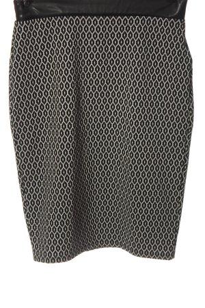Orsay Jupe tricotée noir-blanc imprimé allover style décontracté