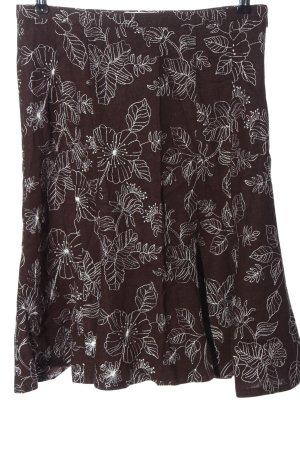 Orsay Spódnica midi brązowy Wzór w kwiaty W stylu casual