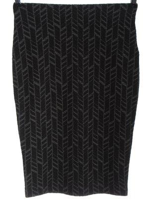 Orsay Gebreide rok zwart-lichtgrijs volledige print elegant
