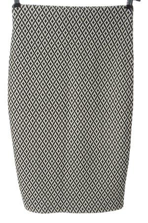 Orsay Midirock schwarz-weiß Allover-Druck Casual-Look