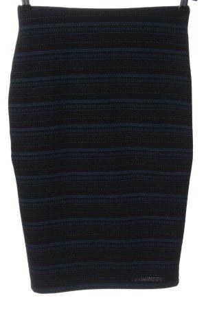 Orsay Midirock schwarz-blau Allover-Druck Casual-Look