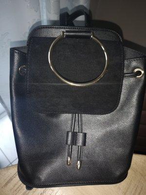 Orsay Mały plecak czarny-złoto Poliuretan