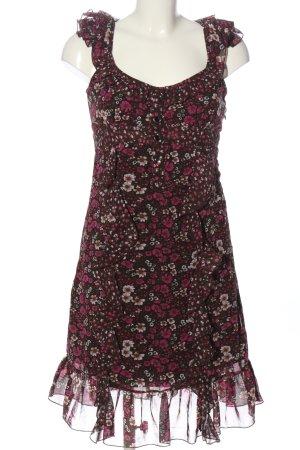 Orsay Mini vestido marrón-rosa estampado floral look casual